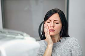 Real patient before and after images on wall