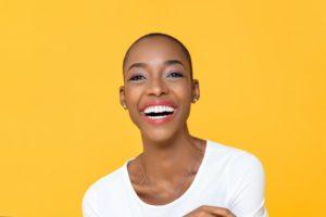 Woman with veneers in Torrington, beautiful white smile